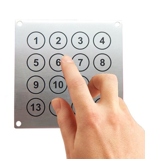 Metal keyboard Keypads Panels